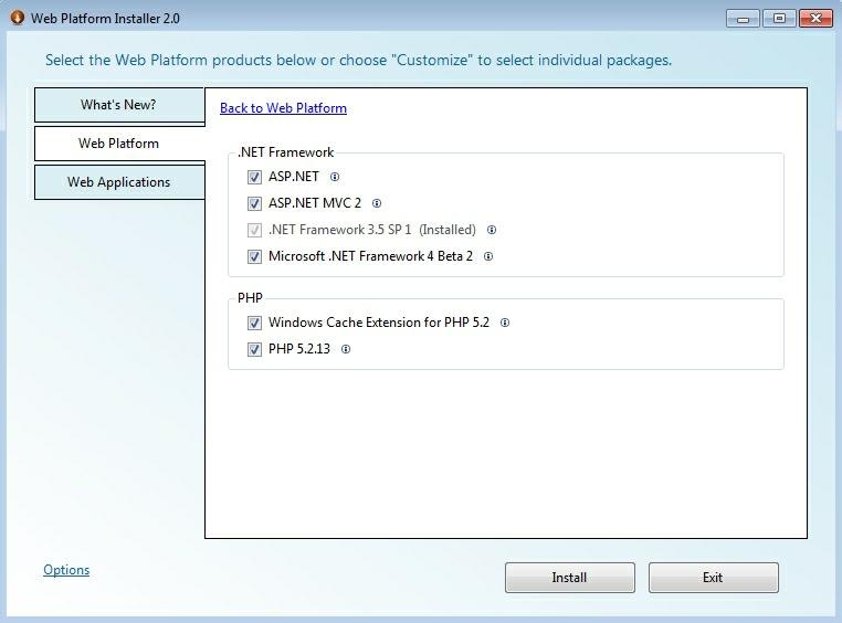 selectare componente frameworks