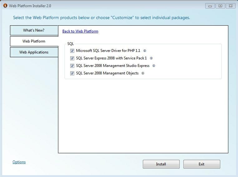 selectare componente pentru baya de date