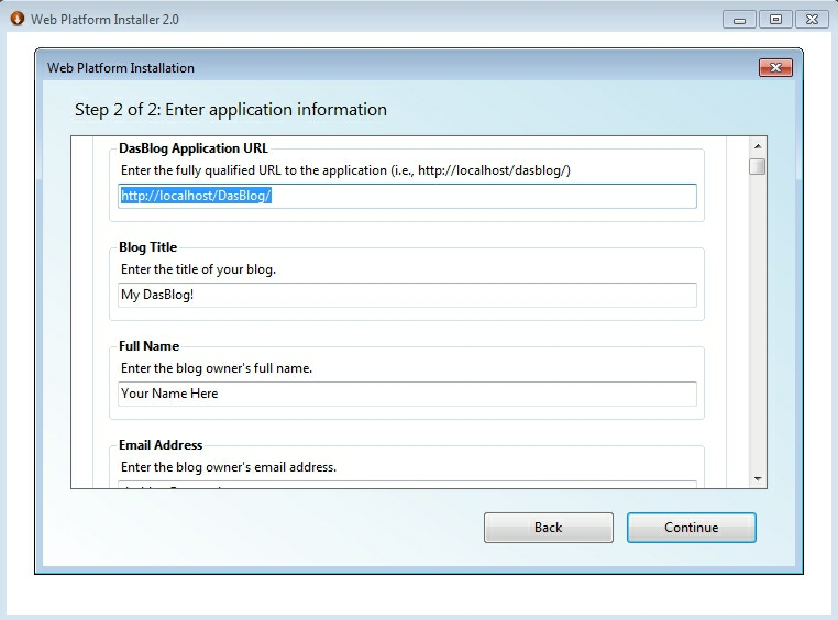 setarea numelui serverului si a aplicatiilor