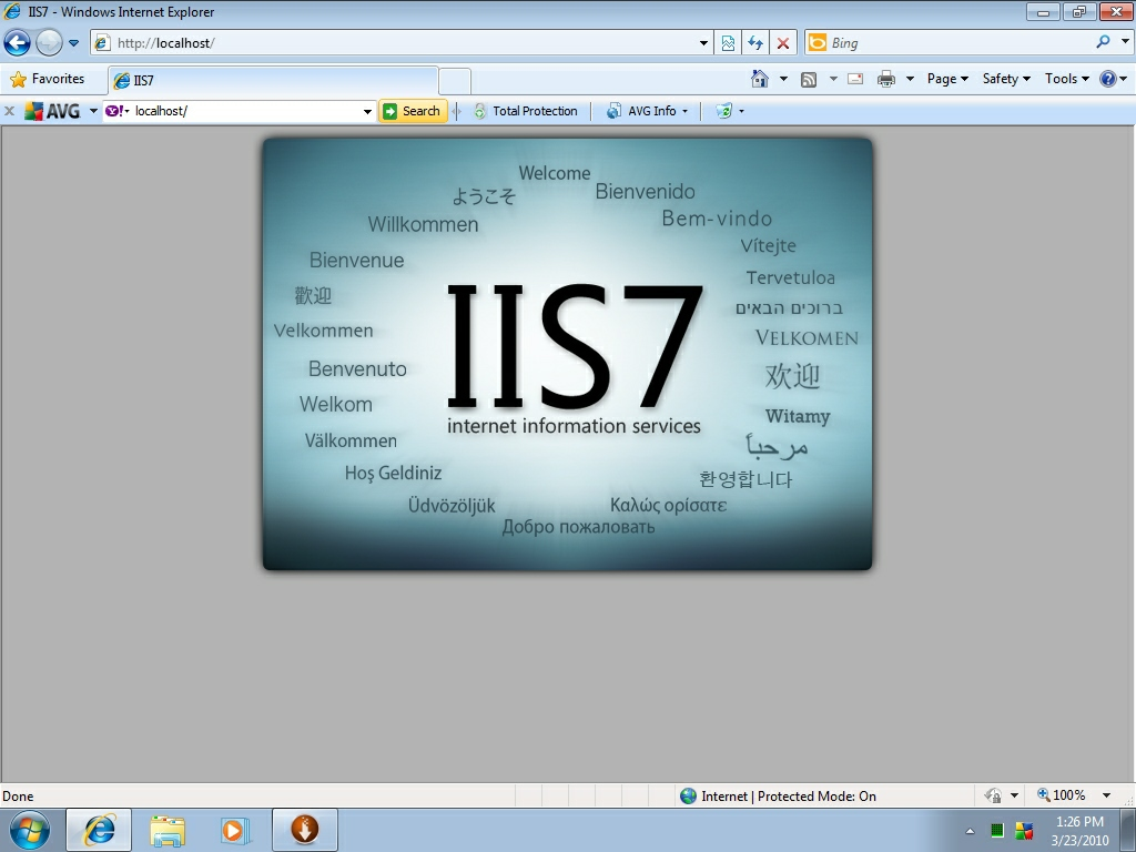 rulare iis in browser